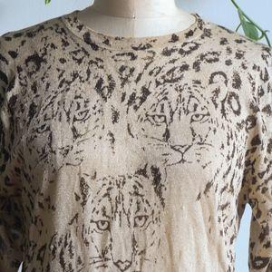 VINTAGE Tigers Sparkling Knit Sweater